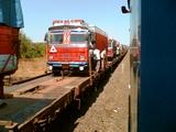 Truck on train !